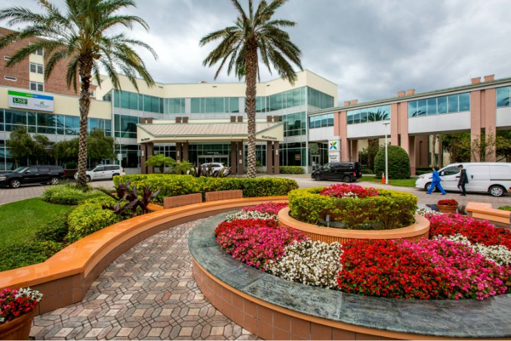 USF Entrance with Flowers and landscape enhancements in Tampa, Florida
